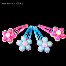 Wholesale 40pcs Lot Mix Colour Baby Kid Children Girls Flower Hair Pin Clips New