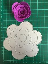 "4.75"" Quilling Roll Up Flower Cutting Die For Sizzix Spellbinders ect. Machine"