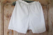 PR ANTIQUE FRENCH WHITE COTTON & LACY CAMI KNICKERS PANTIES UNDER WEAR c1920's