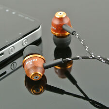 New Super Bass Wooden Headphone Stereo Earphone Headset For iPhone/iPad Sumsung