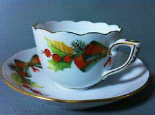 HEREND CHRISTMAS DECOR – NOEL HEREND PORCELAIN COFFE CUP and SAUCER / +GIFT BOX