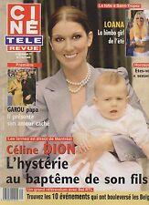 CINE REVUE (belge) 2001 N°31 celine dion loana garou stephanie monaco