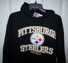 Pittsburgh Steelers Black  Hooded Sweatshirt  Large New W/ Tags FREE SHIPPING
