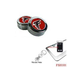 Brand New NFL Atlanta Falcons Chrome License Plate Frame Screw Caps