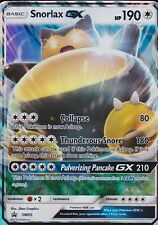 ~Pokemon Ultra Rare Holo Foil Snorlax GX Card SM05 Sun and Moon !