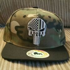 Thin Green Line Punisher Ball Cap hat Military  USA flag SWAT