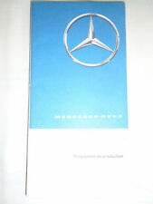 Mercedes Production Programme brochure Jan 1969 French text + price list