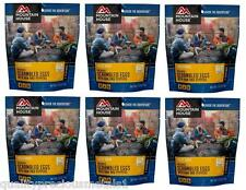 6 -Mountain House Freeze Dried Food Pouches-Scrambled Eggs with  Ham and Peppers