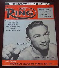 The Ring Magazine February 1958 Carmen Basilio Collectable