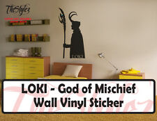 Thor - LOKI God of Mischief with Staff and Orb Wall Vinyl Sticker