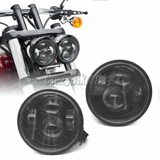 "4.65"" Black LED Daymaker Headlight Lights For Harley Dyna Fat Bob FXDF 2008-2015"