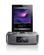 PHILIPS DTB297 BLUETOOTH DAB CLOCK RADIO 10W SPEAKER DOCK IPHONE 5 6 IPAD MINI