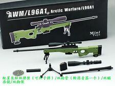 """MiniToys 1/6 Scale AWM/L96A1 Full Metal Sniper  Rifle Model Green For12"""" Figure"""