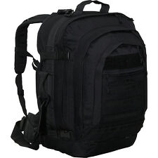 SOC Gear Bugout Bag -  600 Denier Poly-Canvas - Black Travel Backpack NEW