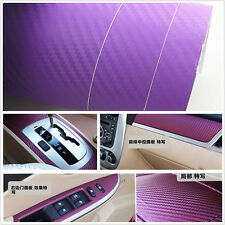 Car Interior Accessories Interior Panel purple3D Carbon Fiber Vinyl Wrap Sticker
