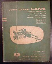 John Deere Ballenpresse 214 Ersatzteilliste