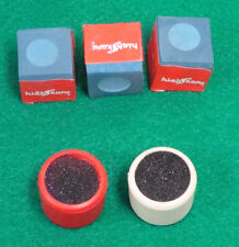 3 Pieces of Blue Pool Billiard Table Chalk & 2 Cue Tip Trimmer Shaper FREE Ship