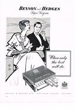 PUBLICITE  1958   BENSON & HEDGES  super Virginia cigarettes