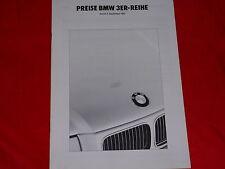 BMW 3er E36 Limousine 316i 318i 320i 325i 325td Preisliste von 1991