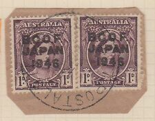 (TIC184) 1946 AU JAPAN 1d QEII BCOF pair on piece F/U