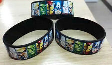 MARVEL COMICS AVENGERS HEROES  Silicon // Rubber Wristband // Bracelet