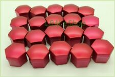 20x Red Universal Wheel Nut Covers 19mm Hex  Comes with Removal Tools