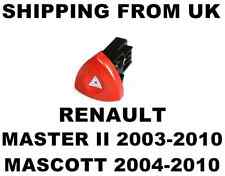 HAZARD WARNING LIGHT SWITCH RED BUTTON DASH for RENAULT MASCOTT MASTER II MK2