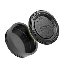 New Camera Body Cap + Rear Lens Caps for Nikon DSLR SLR AI AF