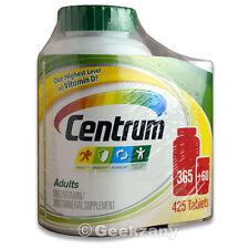 Centrum 365 + 60 Multi-Vitamin For Men & Women - Total 425 Tablet - New