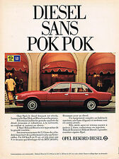 PUBLICITE ADVERTISING 054  1979  OPEL REKORD  DIESEL   sans POK POK