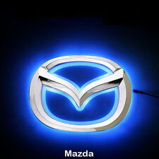 LED Car Tail Logo Blue light Auto Badge Light for Mazda 2 Mazda 3