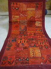 INDIAN BEADED TAPESTRY WALL HANGING THROW Vintage Patchwork Decorative India 24