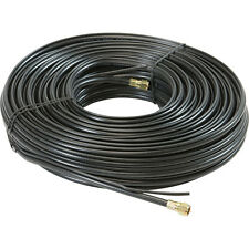 Eagle 100' FT RG6 Coaxial Cable with Ground Messenger Black 18 AWG 2 GHz Silicon