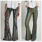 Women Sexy High Waist Wide Leg Long Palazzo Flare Bell Bottom Yoga Pant S M L XL