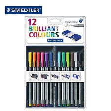 STAEDTLER 12 TRIPLUS FINELINER BRILLIANT COLOURS 0.3mm PEN Magic Box Set