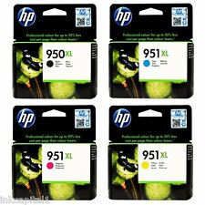 4 x HP OEM Cartridges No 950XL B & 951XL,C,M&Y For Officejet Pro 8600e, 8600