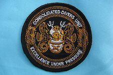 "BL PATCH US NAVY CONSOLIDATED DIVERS UNIT  "" EXCELLENCE UNDER PRESSURE """