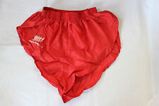 NEW vintage 80s rare FRANK SHORTER red silky running sprinter shorts  X SMALL