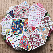 Wholesale 10pcs Mixed Styles Nail Art Water Transfer Wraps Stickers Polish DIY