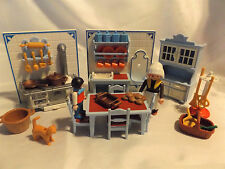 Playmobil Victorian Kitchen 5322 Mansion Doll House Furniture 5300 Cinnamon Roll