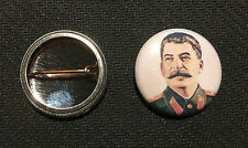 "Josef Stalin 1"" Button Pin - Soviet Union Communist - Buy 2 Get 1 Free"