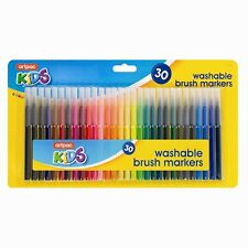 30 Assorted Colour Washable Markers Pack Kids School Art Craft - New