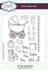 Creative Expressions Clear Stamps - In The Nursery - CEC758 - Baby - Pram - NEW