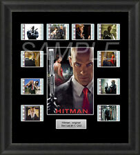 HITMAN MOUNTED FRAMED 35MM FILM CELL MEMORABILIA TIMOTHY OLYPHANT FILM CELLS