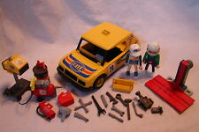 Vintage 1978 Playmobil 3524 RALLY CHASE RACE CAR w/ Extra Figure & LOTS of Acces