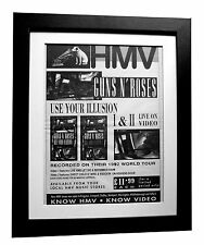 GUNS N ROSES+Use Illusion+POSTER+AD+ORIGINAL 1992+QUALITY FRAMED+FASTGLOBAL SHIP