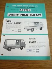 AUTO-SERVICE GARAGE AUSTIN MORRIS MILK FLOAT TRUCK LORRY 'BROCHURE' EARLY 60's