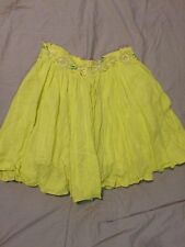 NWOT Anthropologie Floreat Yellow Skirt Crocheted details Size L or XL