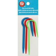 BOYE PLASTIC CURVED CABLE NEEDLE SET - 3 SIZES!!!  GROOVES TO HOLD YOUR STITCHES