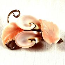 "Vintage 2"" Plastic Flower Brooch Pin"
